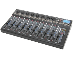 Citronic CM10-LIVE compact mixer with delay + USB/SD player