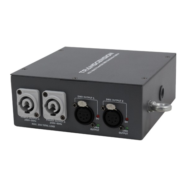 Transcension HS2 Hybrid PowerCON DMX Distribution Splitter