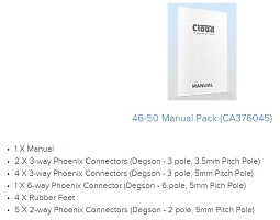 Cloud 46-50 Connector Pack CA376045