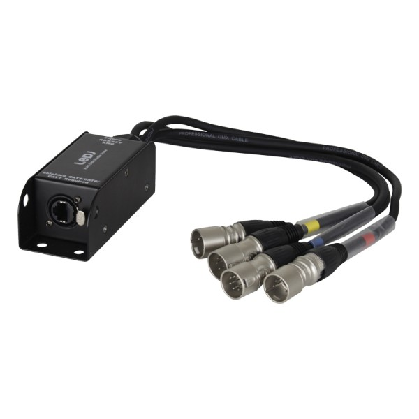Ledj etherCON to DMX Multicore Adaptor 5-pin Male XLR Tails