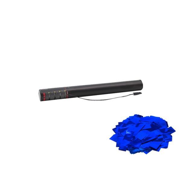 Confetti-Maker Electric Confetti Cannon 50cm Blue Metallic