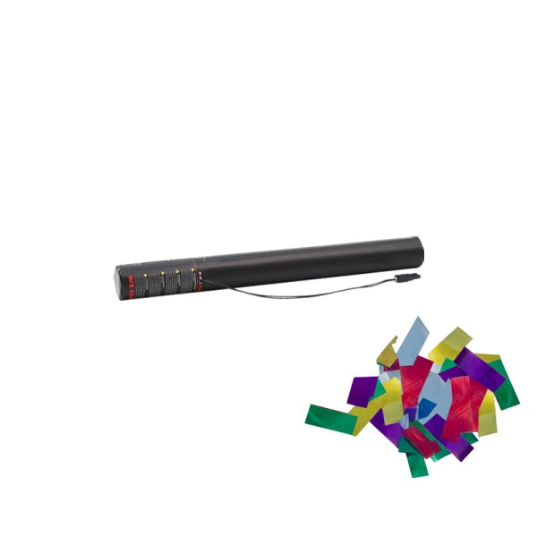 Confetti-Maker Electric Confetti Cannon 50cm Multicoloured Metallic