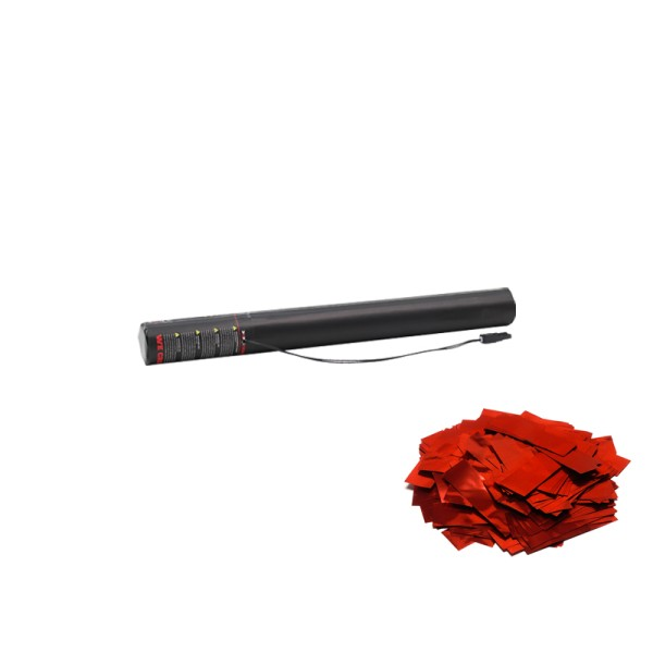 Confetti-Maker Electric Confetti Cannon 50cm Red Metallic