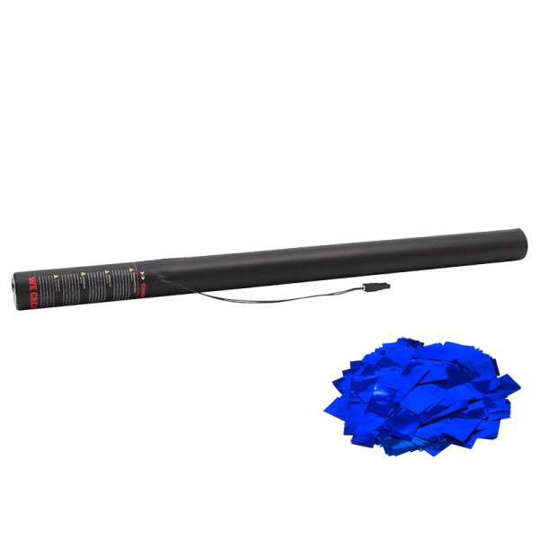 Confetti-Maker Electric Confetti Cannon 80cm Blue Metallic