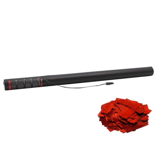 Confetti-Maker Electric Confetti Cannon 80cm Red Metallic