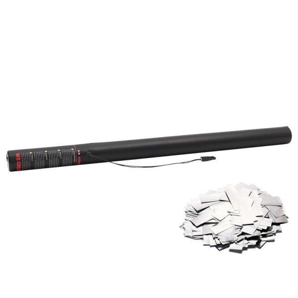 Confetti-Maker Electric Confetti Cannon 80cm Metallic Silver