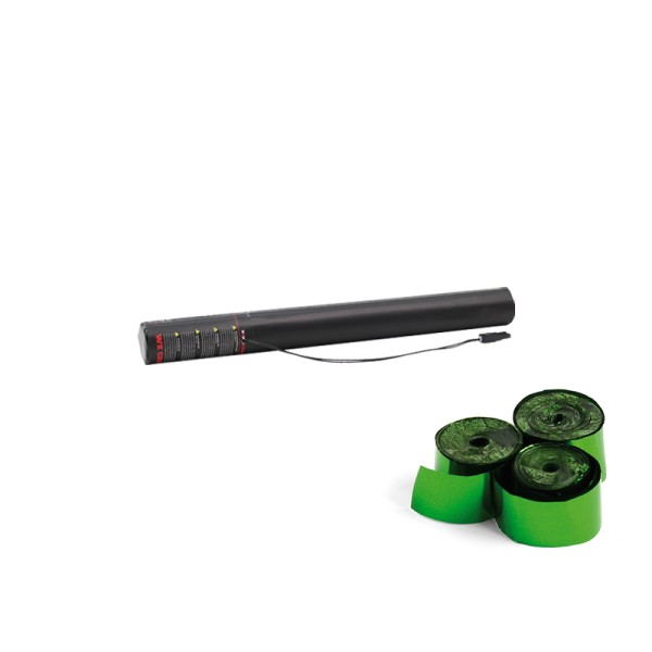 Confetti-Maker Electric Streamer Cannon 50cm Green Metallic