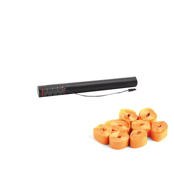 Confetti-Maker Electric Streamer Cannon 50cm Orange