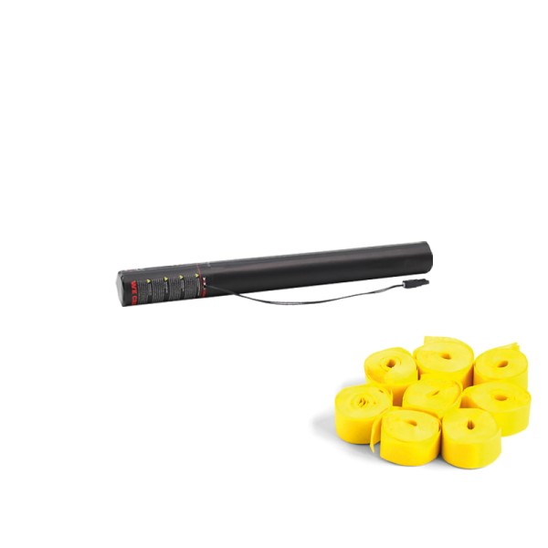Confetti-Maker Electric Streamer Cannon 50cm Yellow