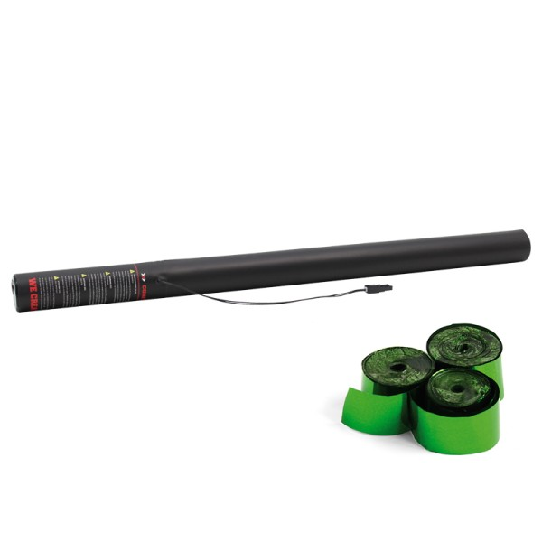 Confetti-Maker Electric Streamer Cannon 80cm Green Metallic
