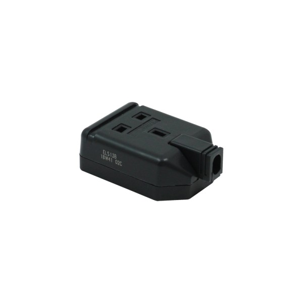 1 Gang 13A HD Mains Socket, Black (ELS13B)