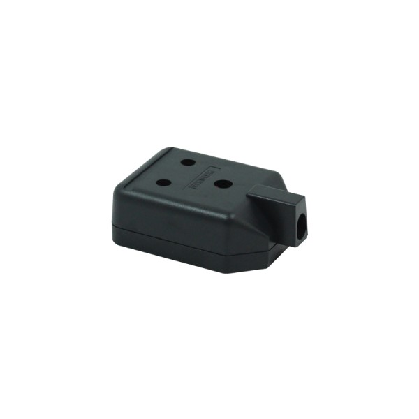 1 Gang 15A Round Pin HD Mains Socket, Black (ELS15B)