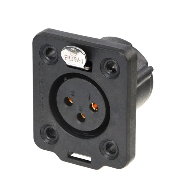 Neutrik XLR 3-pin Female Chassis Socket, IP65, NC3FDX-TOP