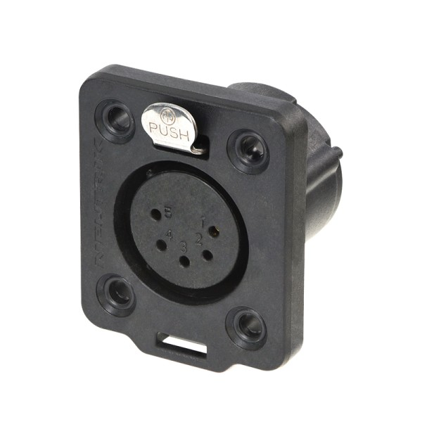 Neutrik XLR 5-pin Female Chassis Socket, IP65, NC5FDX-TOP