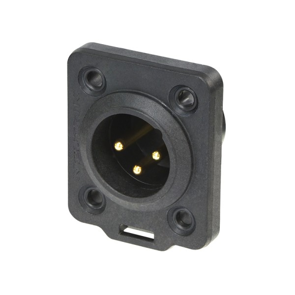 Neutrik XLR 3-pin Male Chassis Socket, IP65, NC3MDX-TOP