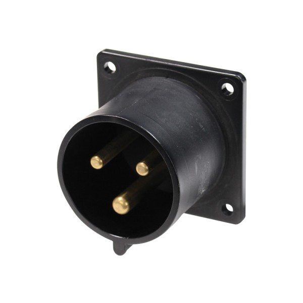 PCE 32A 230V 2P+E Black Appliance Inlet (623-6X)