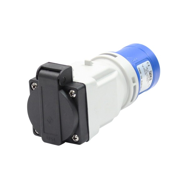 PCE 16A 23V 2P+E Plug to 13A Socket (9433103)