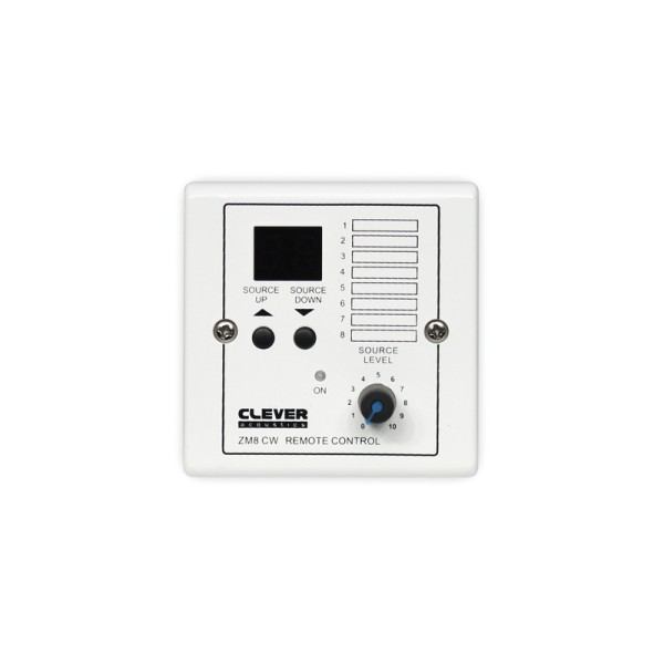 Clever Acoustics ZM8 CW Wall Plate - Source Select