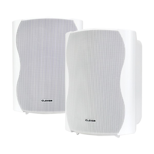 Clever Acoustics BGS 50 White 8 Ohm Speakers (Pair)