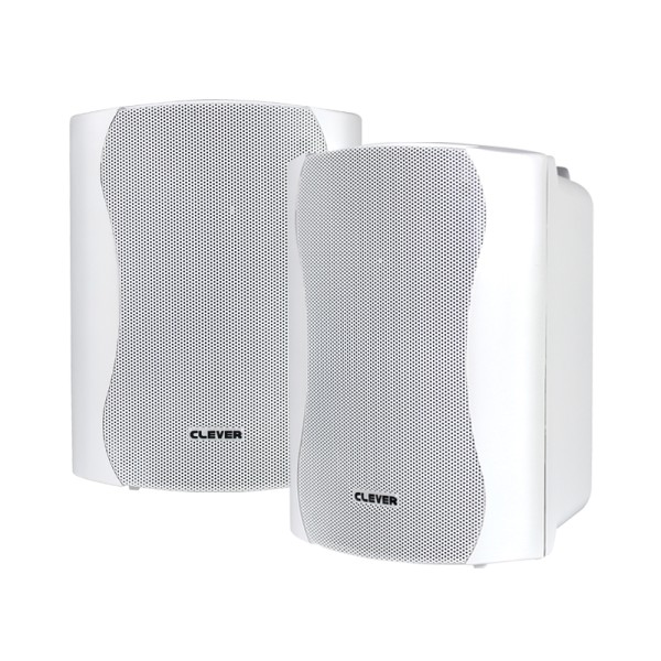 Clever Acoustics BGS 35T White 100V Speakers (Pair)