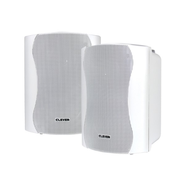 Clever Acoustics WPS 25T White 100V Weatherproof Speakers (Pair)