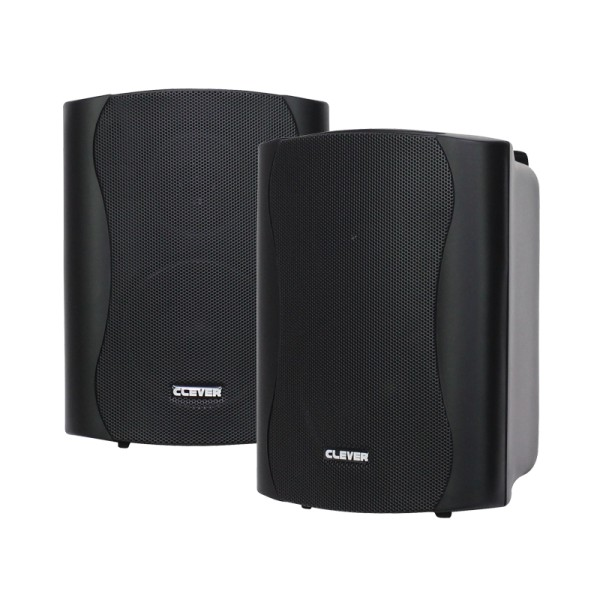 Clever Acoustics WPS 35T Black 100V Weatherproof Speakers (Pair)