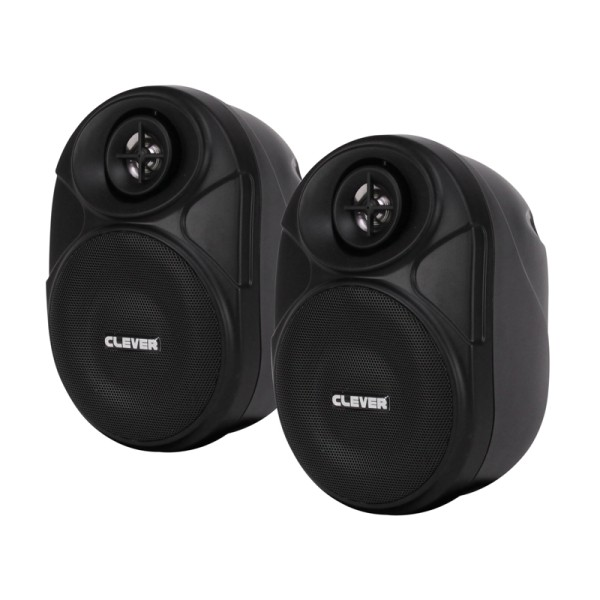 Clever Acoustics BGS 20T Black 100V Speakers (Pair)