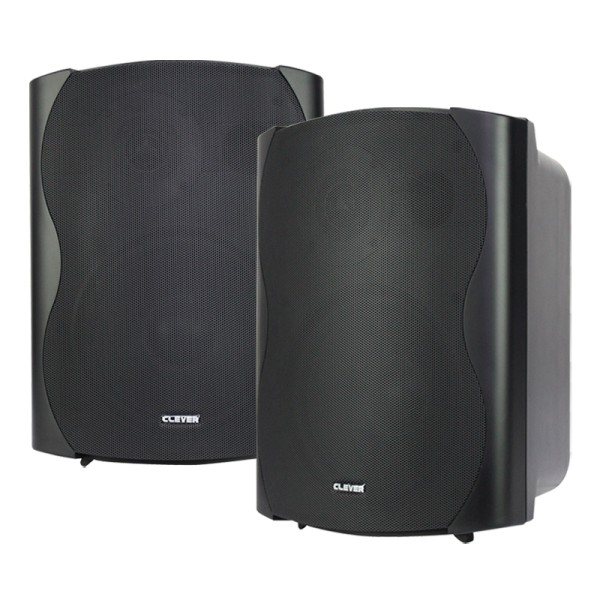 Clever Acoustics BGS 85T Black 100V Speakers (Pair)