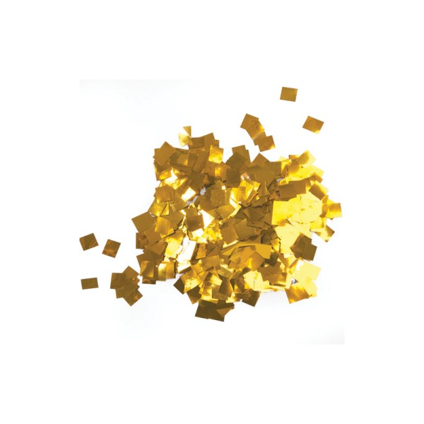 Equinox Loose Confetti Squares 17 x 17mm Metallic Gold 1kg