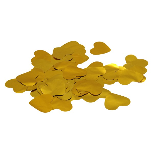 Equinox Loose Confetti Hearts 55mm Metallic Gold 1kg