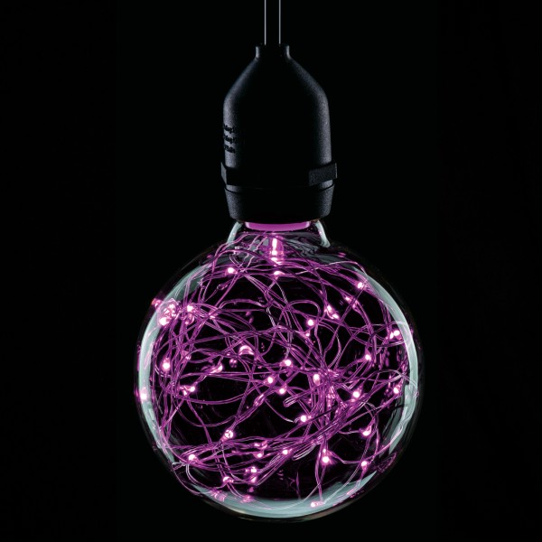 Prolite 1.7W LED G95 BC Poly Star Polycarbonate Lamp, Magenta