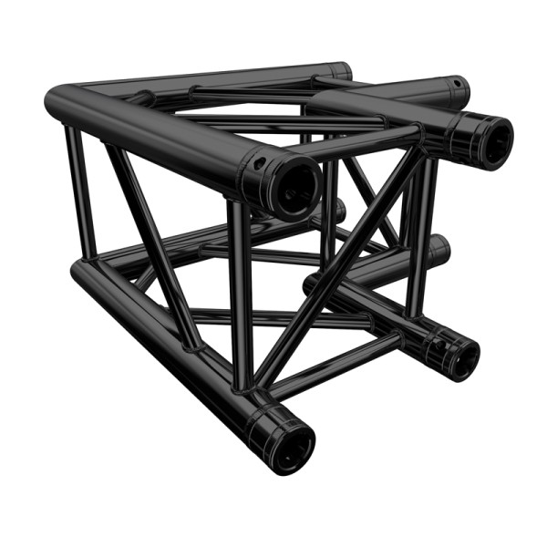 Global Truss F34 PL Stage Black 2 Way 90 Degree Corner (4121-21PL-B)