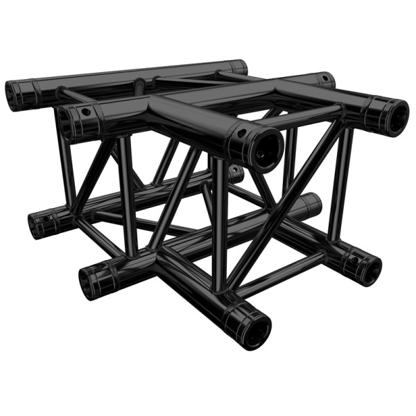 Global Truss F34 PL Stage Black T Piece (4129-35PL-B)