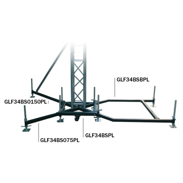 Global Truss F34 PL Ground Support BS0-75 Steel