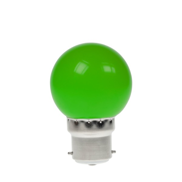 Prolite 1W LED Polycarbonate Golf Ball Lamp, BC Green