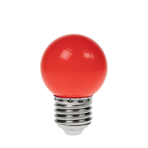 Prolite 1W LED Polycarbonate Golf Ball Lamp, ES Red