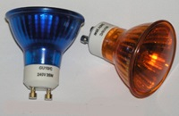 FLAME LIGHT BULBS, 230V GU10 50mm