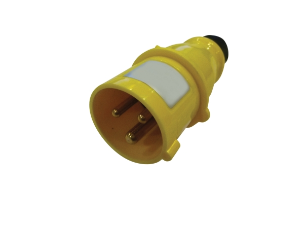 Yellow 16A C Form 3 Contact High Current In-line Plug