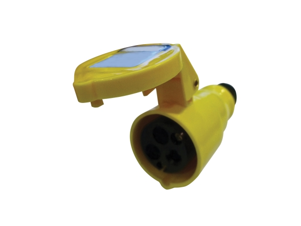 Yellow 16A C Form 3 Contact High Current In-line Socket