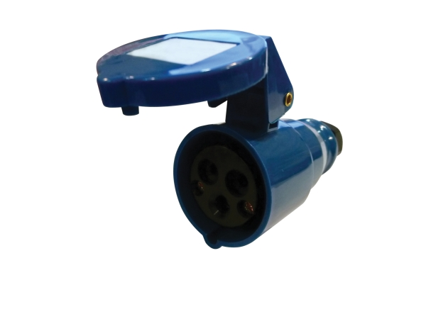 Blue 16A C Form 3 Contact High Current In-line Socket