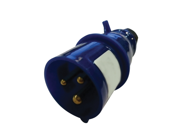 Blue 16A C Form 3 Contact High Current In-line Plug