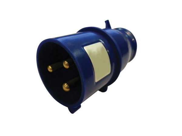Blue 32A C Form 3 Contact High Current In-line Plug