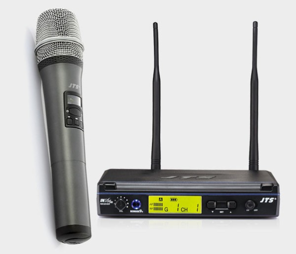 JTS IN-164 Series UHF PLL Single Channel Diversity Handheld Wireless Microphone System - Channel 38