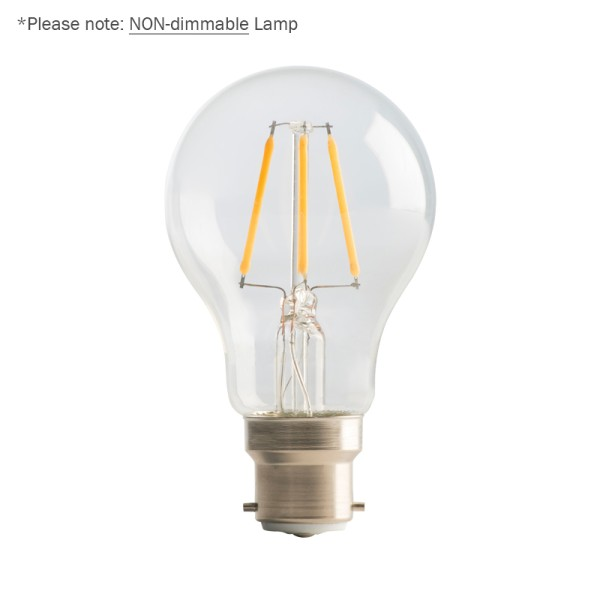 Luceco 4W LED Clear GLS Filament Lamp, B22 2700K