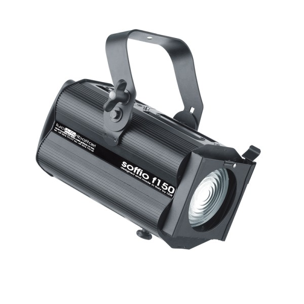 LDR Soffio F150 Discharge 150W Fresnel, Black