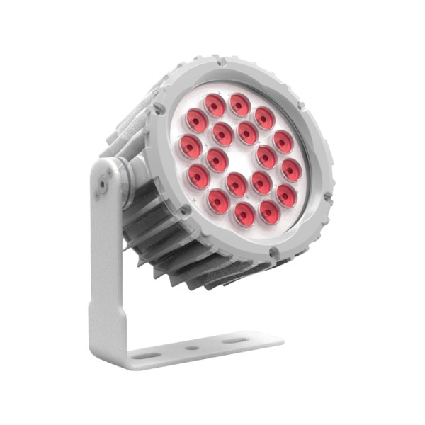 LEDj Aspect XL Exterior Red Feature Light (White Housing)
