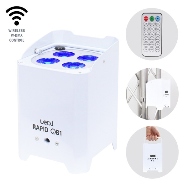 LEDJ Rapid QB1 RGBW (White Housing)