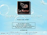 Le Maitre Super Bubble Fluid (4 x 5 Litre)