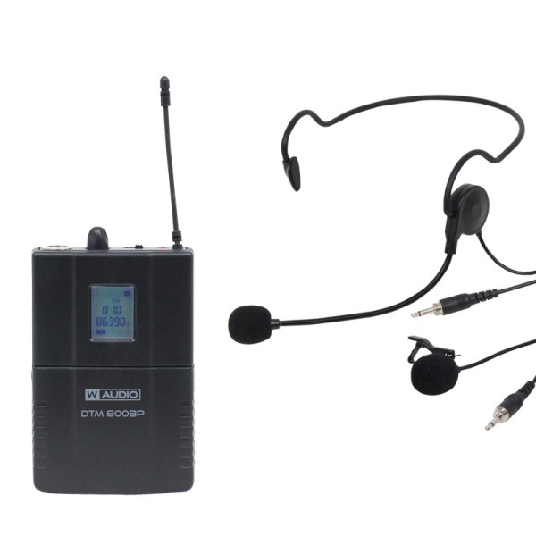 W Audio DTM 800BP Add On Beltpack Kit (863.0-865.0Mhz BNC Receivers)