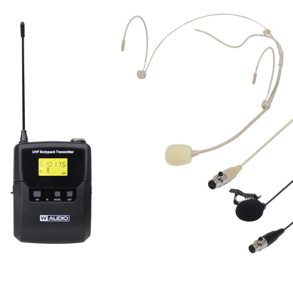W AUDIO DQM 600BP Add On Beltpack Kit (606.0Mhz-614.0Mhz)